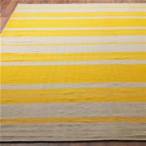 yellow striped rug 17 best images about rugs floor coverings on flea market finds wool and dhurrie rugs