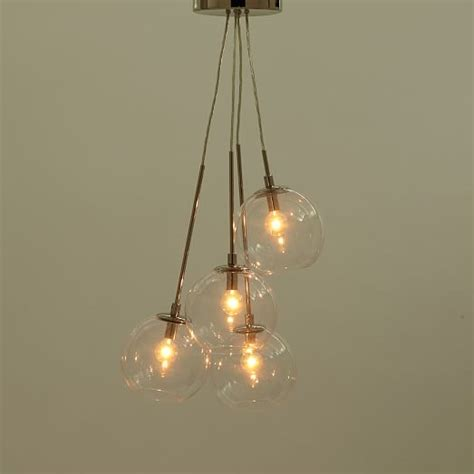 Cluster Pendant Light Cluster Glass Pendant West Elm