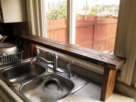 Wood The Sink Shelf by Pallet Wood The Sink Window Shelf Kitchen Update 5