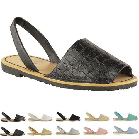 flat mules shoes womens summer menorcan peep toe sandals mules