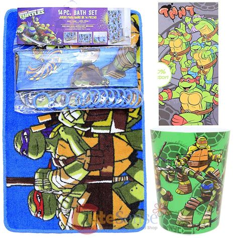 tmnt bathroom set tmnt ninja turtles 16pc bath set bathroom rug shower