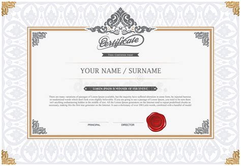 design a certificate in illustrator vector illustration of gold detailed certificate stock
