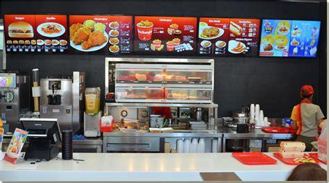 food court sign board design corn digital press release restaurant digital signage