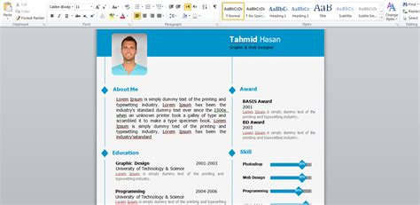 Model Cv Word Gratuit 2015 by Modele Cv Word 2015 Cv Anonyme