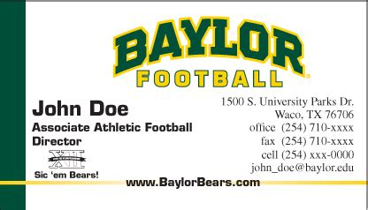 Baylor Mba Sports Management by Stationery Graphic Standards Baylor