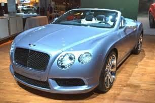 Light Blue Bentley Convertible 2013 Bentley Continental Convertible 2012 New York Auto