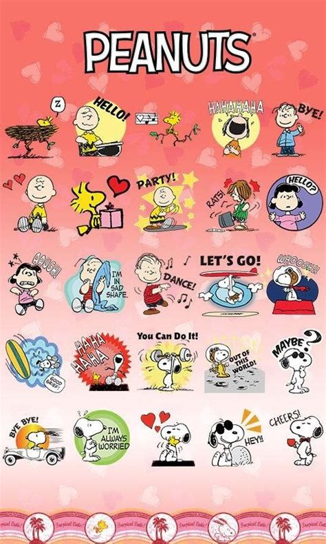 Go Sms Stickers go sms pro peanuts sticker free android theme
