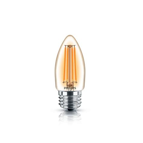 3 Philips 40w B11 Candelabra Led Light Bulbs Best Price philips 40w equivalent soft white classic glass dimmable