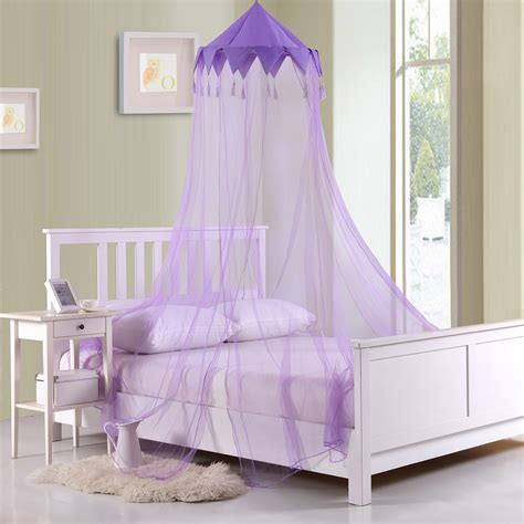 Sheer Bed Canopy Casablanca Harlequin Collapsible Hoop Sheer Bed Canopy