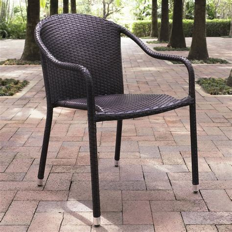 brown wicker patio furniture shop crosley furniture palm harbor 4 count brown wicker