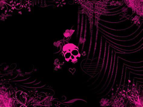 wallpaper gothic pink pink skull by daemonika on deviantart