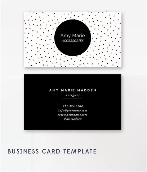 pandemic in the lab template card business card template photoshop templates polka dot