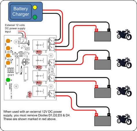 diode charger for motorcycle battery battery charger controller