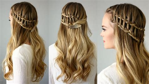 french braid across the top half up ladder braid missy sue youtube