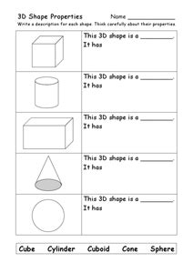 printable math worksheets faces edges and vertices 3d shape properties faces edges corners worksheet for