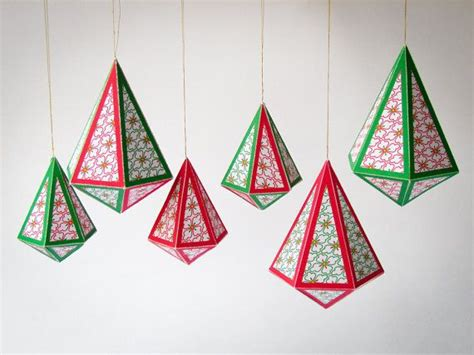diy christmas ornaments set of 8 printable templates a4