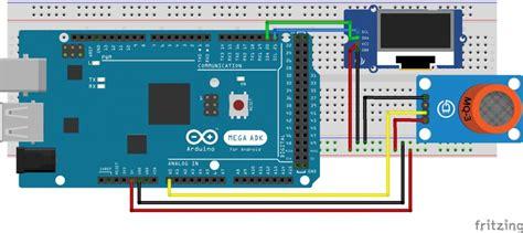arduino breathalyzer  mq gas sensor  oled display