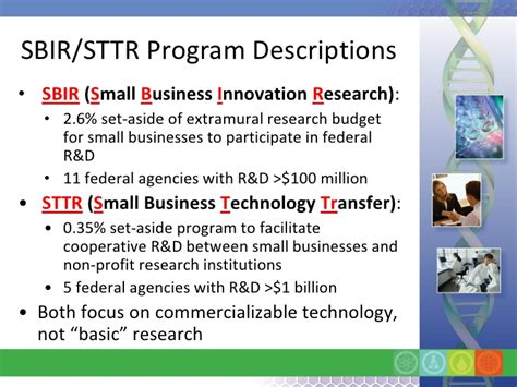 small business technology transfer program phase i sttr sbir basics