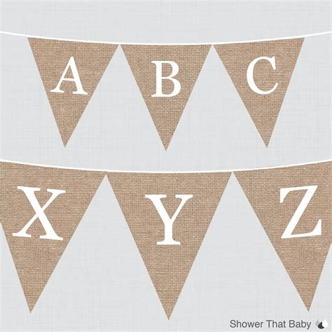 printable bunting letters free burlap alphabet banner with all letters printable instant