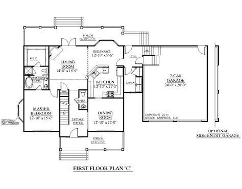 c foster housing floor plans houseplans biz house plan 2544 c the hildreth c w garage