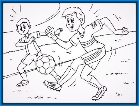 dibujos niños jugando futbol para colorear dibujos para colorear jugando voleibol archivos imagenes