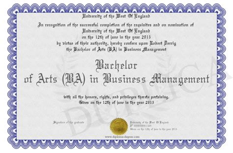 bachelor of arts ba in business management