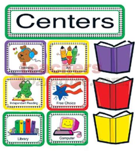 printables for kindergarten centers printable literacy center icons learning materials mini
