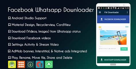 whatsapp ad themes download facebook whatsapp status downloader with admob and native