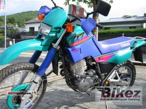 1994 yamaha xt 600 k specifications and pictures