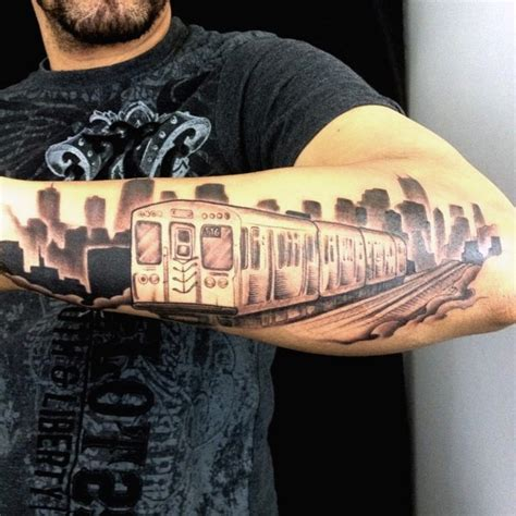 small modern tattoos small black and gray style modern city on