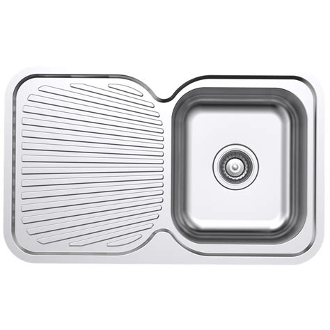 stainless steel kitchen sink right drainer estilo stainless steel right single bowl sink with