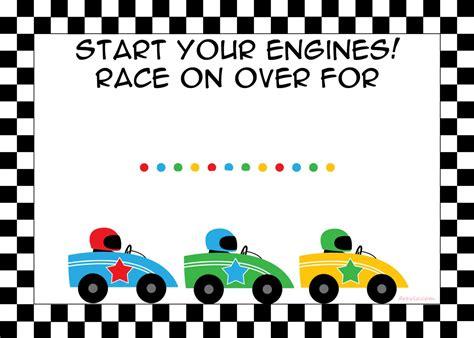 Free Printable Race Car Birthday Party Invitations Template Free Invitation Templates Drevio Race Car Invitation Templates