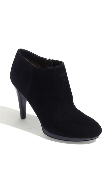 via spiga cayden ankle boot in black black suede lyst