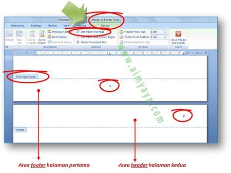 cara membuat halaman di word untuk skripsi cara membuat nomor halaman untuk proposal dan skripsi