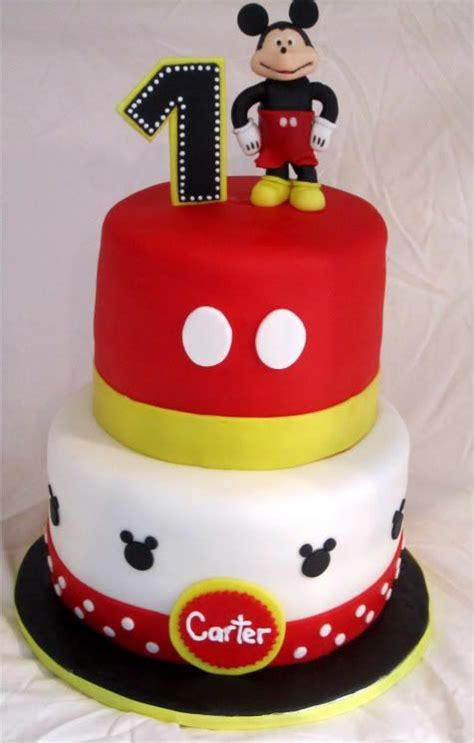 mickey mouse st birthday cake happy st birthday jakobi