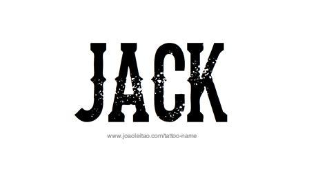 Tattoo Name Jack | jack name tattoo designs