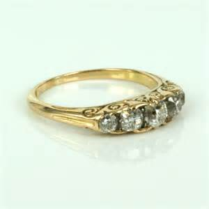 antique gold wedding rings buy 18ct antique engagement ring in yellow gold