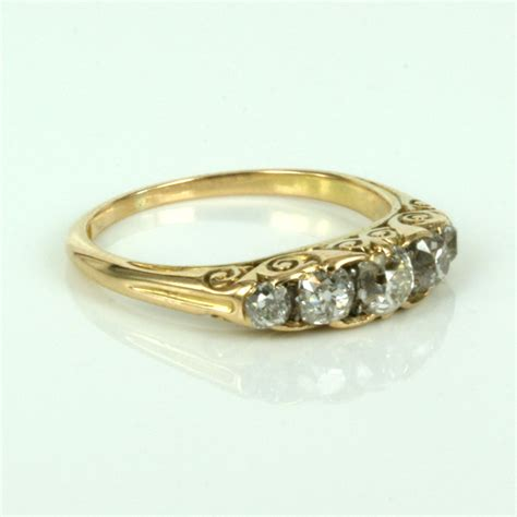 buy 18ct antique engagement ring in yellow gold