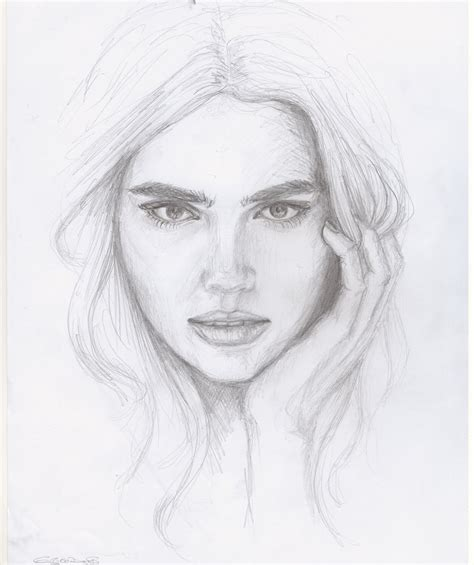 pencil drawing person easy pencil drawings of faces drawing of sketch