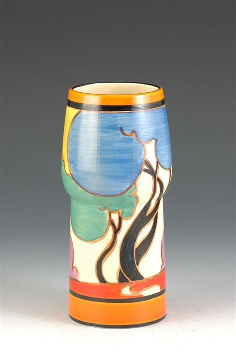 Clarice Cliff Vase Shapes by Shape Vase And Autumn On