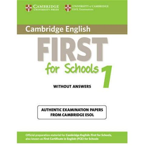 cambridge english first for 1316503518 cambridge english first for schools 1 student s book without answers cambridge esol