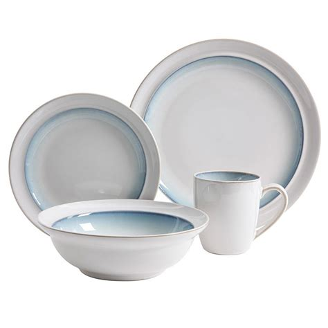 teal dinnerware gibson elite lawson 16 teal dinnerware set 98597339m the home depot