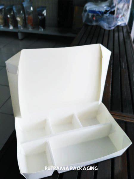 paper lunch box sekat  size xl kotak makan kertas