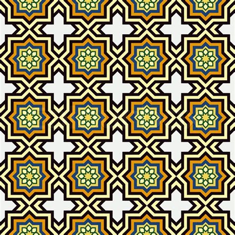 Islamic Home Decorations by Islam Style Background Geometric Seamless Pattern