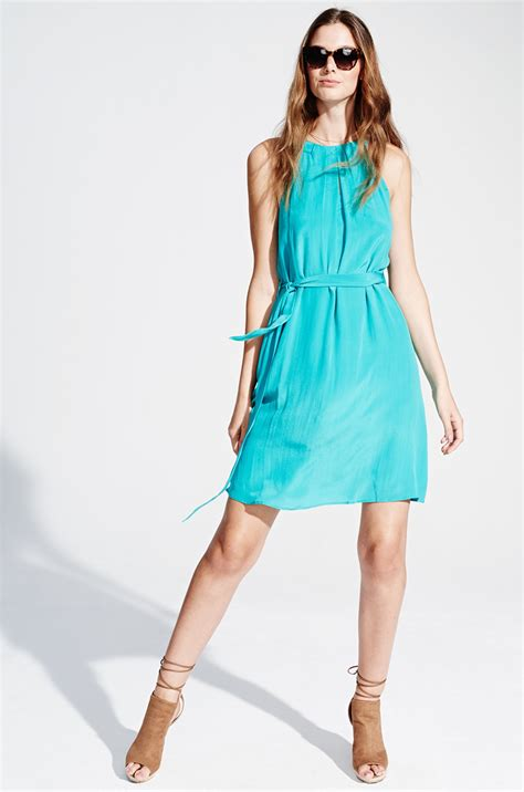 Trend Alert Turquoise Dresses For Fall by Turquoise Silk Summer Dress By Kala Fashion Kala Fashion