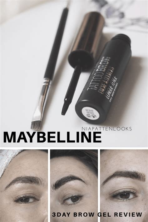 tattoo brow maybelline usa maybelline tattoo brow easy peel off tint review