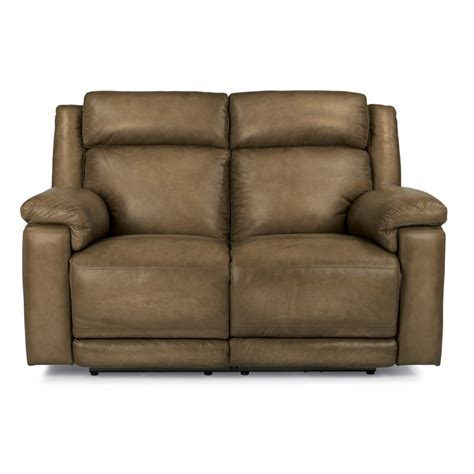 Flexsteel Reclining Loveseat by Flexsteel 1509 60ph Brody Leather Power Reclining Loveseat