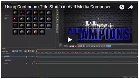 tutorial avid fx tutorial boris fx continuum title studio in avid media