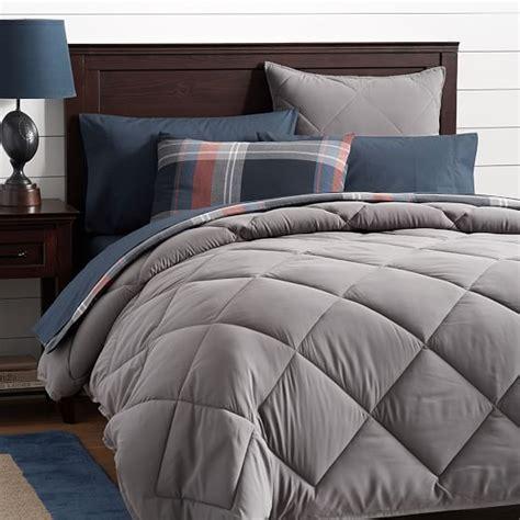 dark gray bedding classic plush comforter sham dark gray pbteen