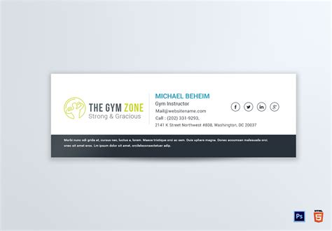 Business Card To Email Signature Choice Image Card Design And Card Template Email Card Template